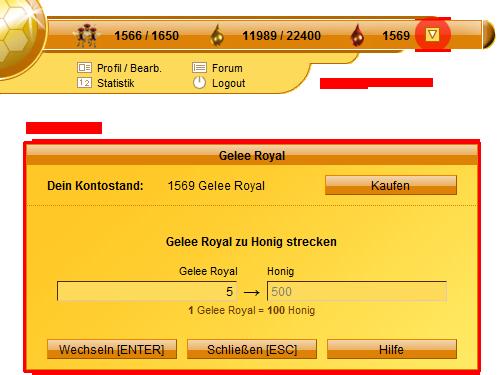Gelee-Royal umtauschen